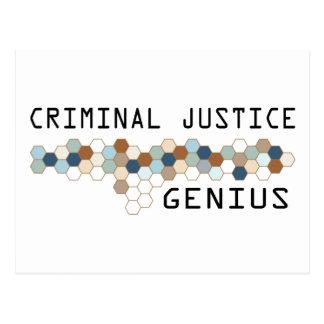 Criminal Justice Genius Postcard