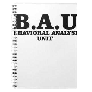 Criminal Minds BAU Behavioral Analysis Unit Shirts Notebook