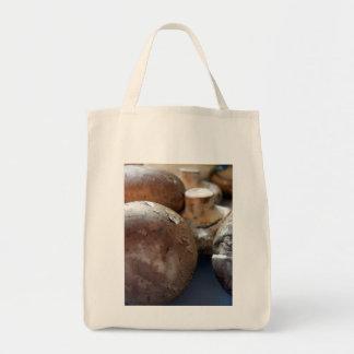 Crimini mushrooms grocery tote bag