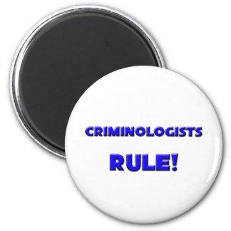 Criminologists Rule! 6 Cm Round Magnet