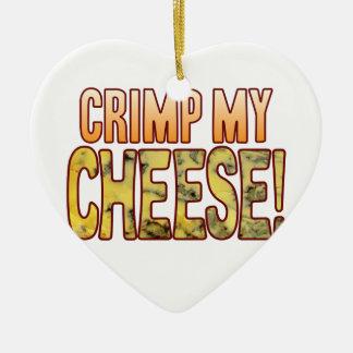 Crimp My Blue Cheese Ceramic Heart Decoration