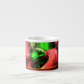 Crimson Affection Abstract Espresso Mugs