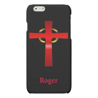 Crimson and Gold Celtic Cross iPhone 6 Plus Case