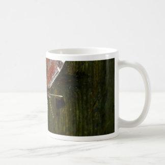 Crimson and White Butterfly Coffee Mug