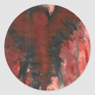 Crimson Angel Of Pain. Classic Round Sticker