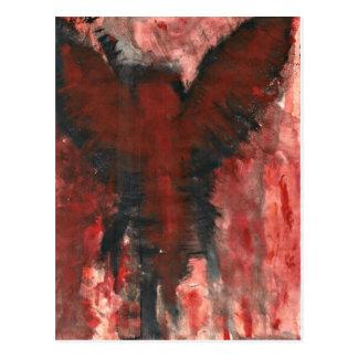 Crimson Angel Of Pain. Postcard