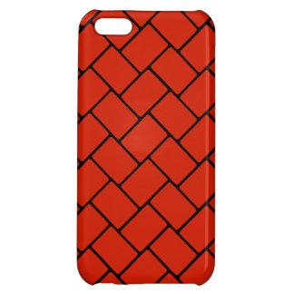 Crimson Basket Weave 2 iPhone 5C Covers