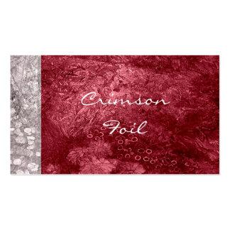 Crimson Business Cards