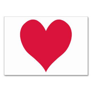 Crimson Cute Heart Card