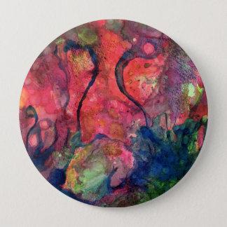 Crimson Dawn 10 Cm Round Badge