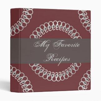 Crimson Eyelets Recipe Book 3 Ring Binder