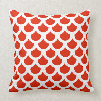 Crimson Fish Scale 2 Cushion