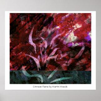 Crimson Flame Print