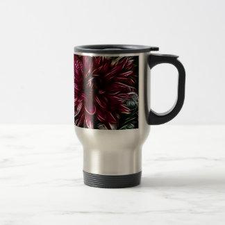 Crimson Flower Coffee Mugs