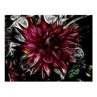 Crimson Flower Postcard