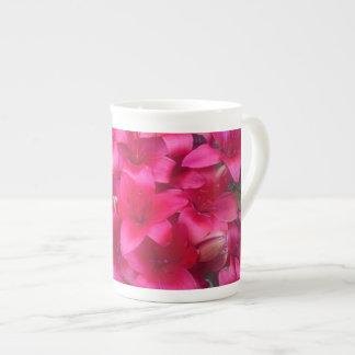 Crimson Flowers Mug Bone China Mug
