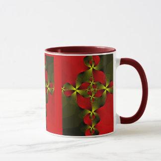 Crimson Foil Cross Mug