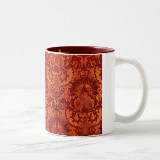 Crimson Garden Fleur de lis Two-Tone Mug