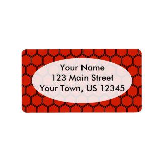 Crimson Hexagon 3 Address Label
