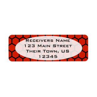 Crimson Hexagon 4 Return Address Label