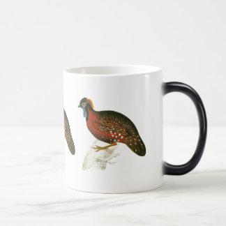 Crimson Horned Pheasant Morphing Mug