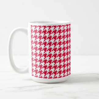 Crimson Houndstooth Coffee Mug