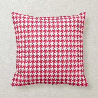Crimson Houndstooth Cushion