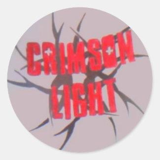 crimson light classic round sticker