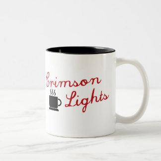 Crimson Lights Two-Tone Coffee Mug