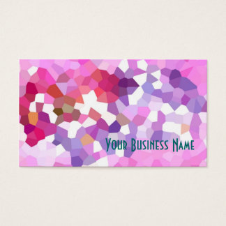 Crimson, Lilac, Pink Abstract Business Card