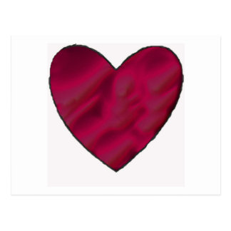Crimson Love Heart Postcard
