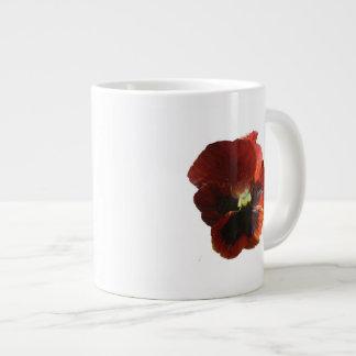 Crimson Pansy Jumbo Mugs