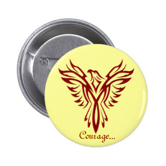 Crimson Phoenix Rising badge / button