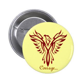 Crimson Phoenix Rising badge / button