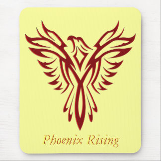 Crimson Phoenix Rising Mouse Mat