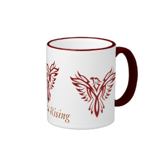 Crimson Phoenix Rising ringer mug