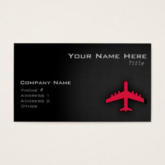 Crimson Red Airplane