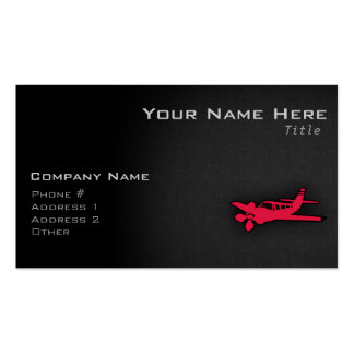 Crimson Red Airplane Pack Of Standard Business Cards