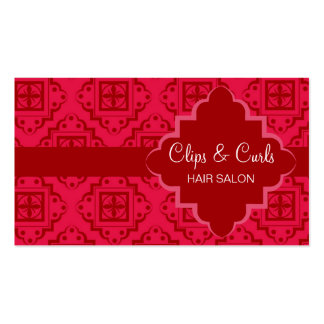 Crimson Red Arabesque Moroccan Graphic Pack Of Standard Business Cards