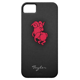 Crimson Red Aries iPhone 5 Covers
