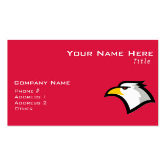 Crimson Red Bald Eagle Double-Sided Standard Business Cards (Pack Of 100)