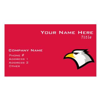 Crimson Red Bald Eagle Pack Of Standard Business Cards