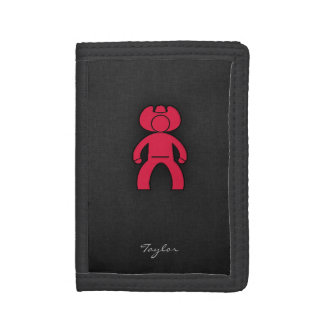 Crimson Red Cowboy Tri-fold Wallets