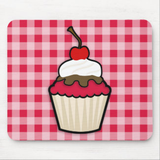 Crimson Red Cupcake Mouse Pad