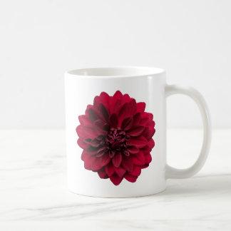 Crimson Red Dahlia Flower - Arabian Night Coffee Mug