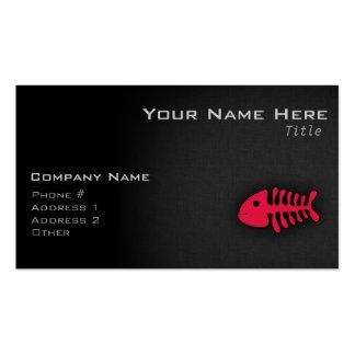Crimson Red Fish Bones Pack Of Standard Business Cards