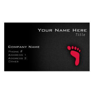 Crimson Red Footprint Pack Of Standard Business Cards