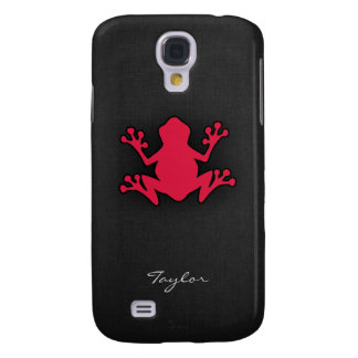Crimson Red Frog Galaxy S4 Case