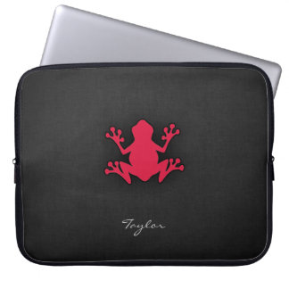 Crimson Red Frog Laptop Sleeve