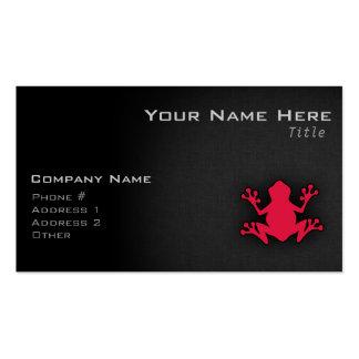 Crimson Red Frog Pack Of Standard Business Cards